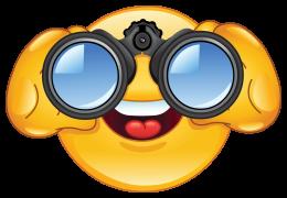 Looking Through Binoculars PNG - 45044