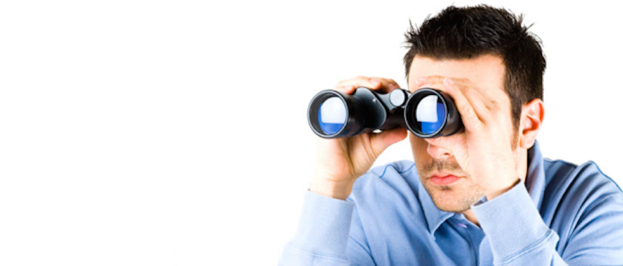 Looking Through Binoculars PNG - 45037