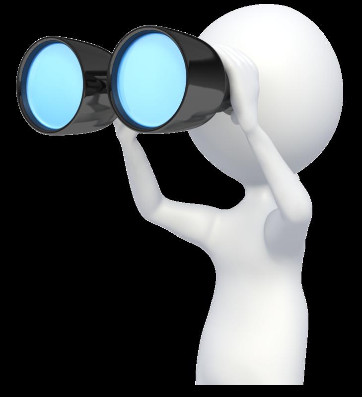 Looking Through Binoculars PNG - 45036