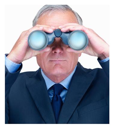Man Looking through Binoculars - Looking Through Binoculars PNG