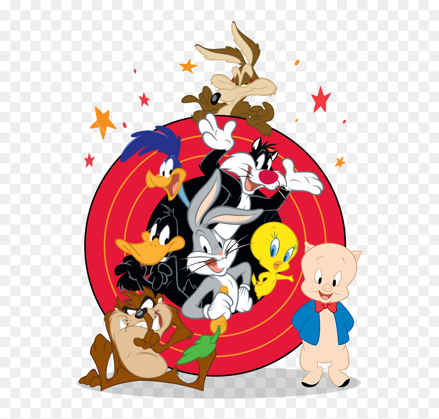 Looney Tunes References In The Simpsons, Hd Png Download - Vhv - Looney Tunes Logo PNG