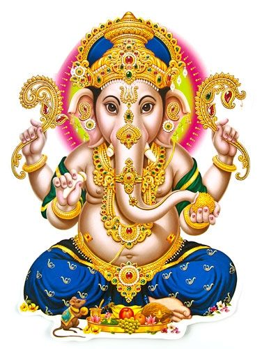 Lord Ganesh Jumbo Stickers Wholesale - Sri Ganesh PNG