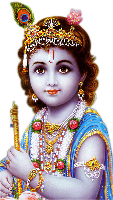 Bal Krishna God Png Picture With Transparent - Lord Krishna HD PNG