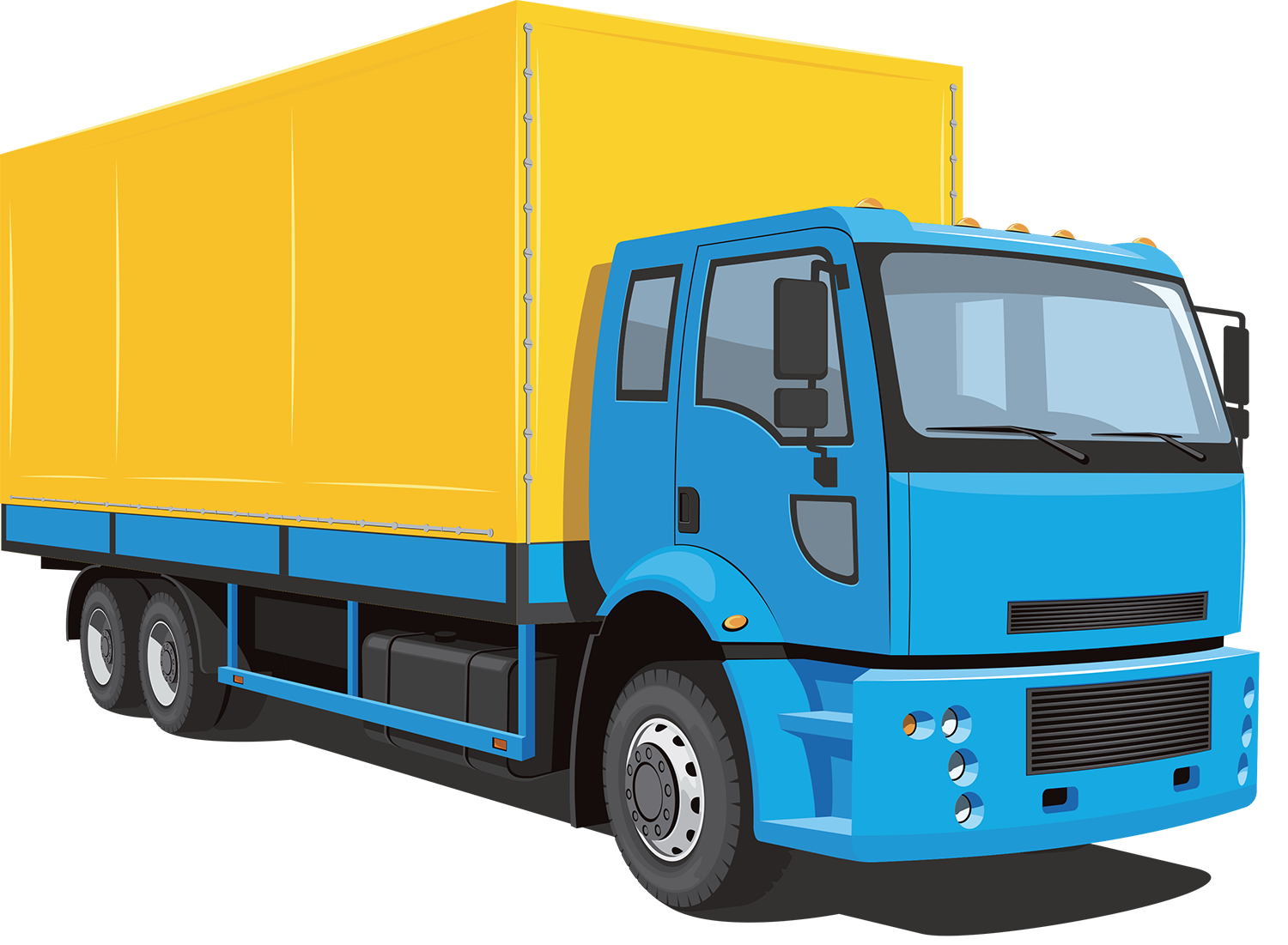 Box truck vector - Lorry PNG HD