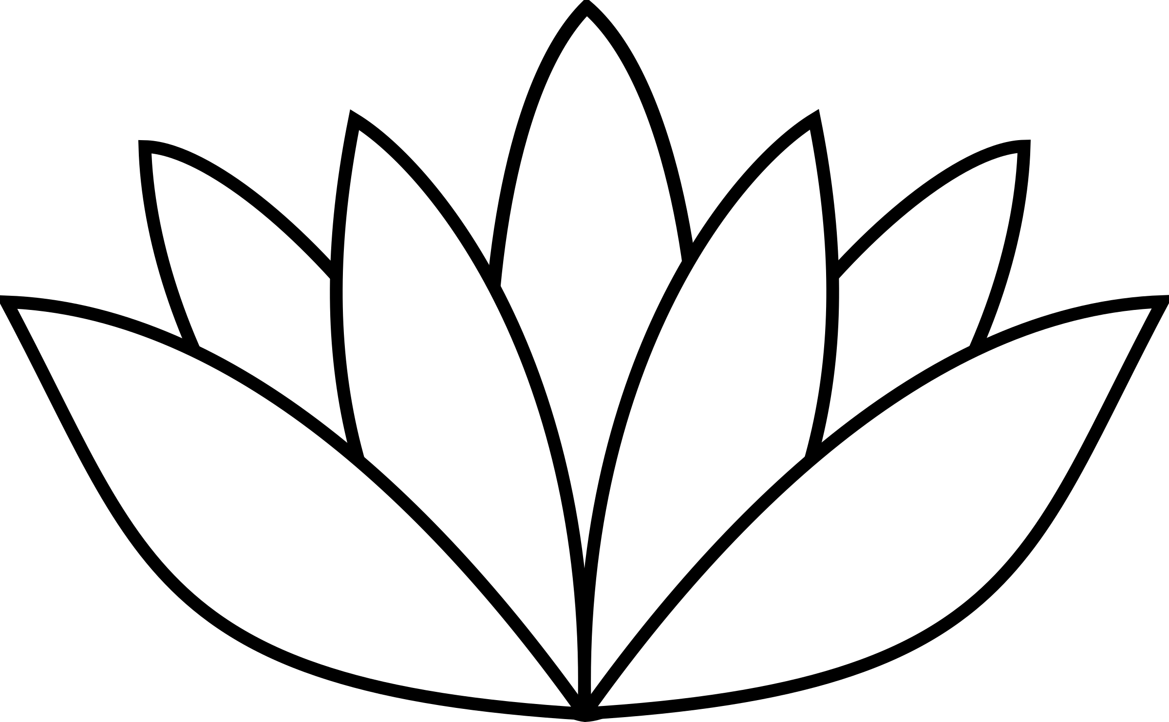 Lotus Flower Black And White PNG - 87940