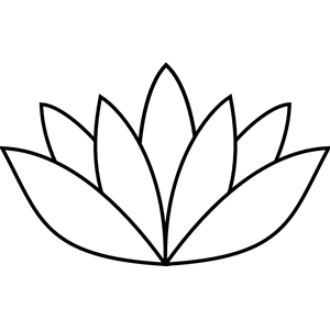 Lotus Flower Black And White PNG - 87931