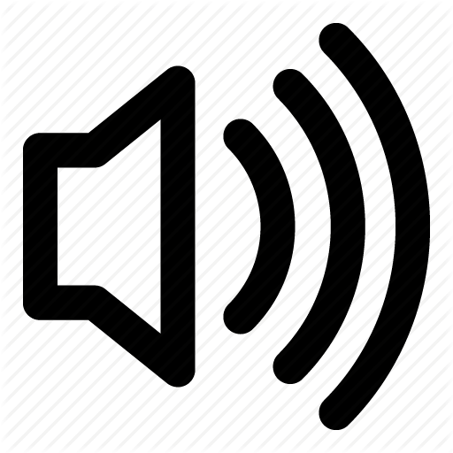 loud, speaker, voice icon - Loud PNG Black And White