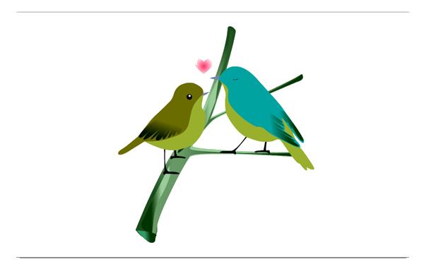 Love Birds PNG - 8435