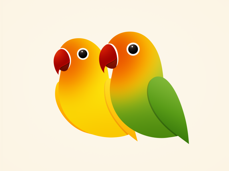 Similar Love Birds PNG Image