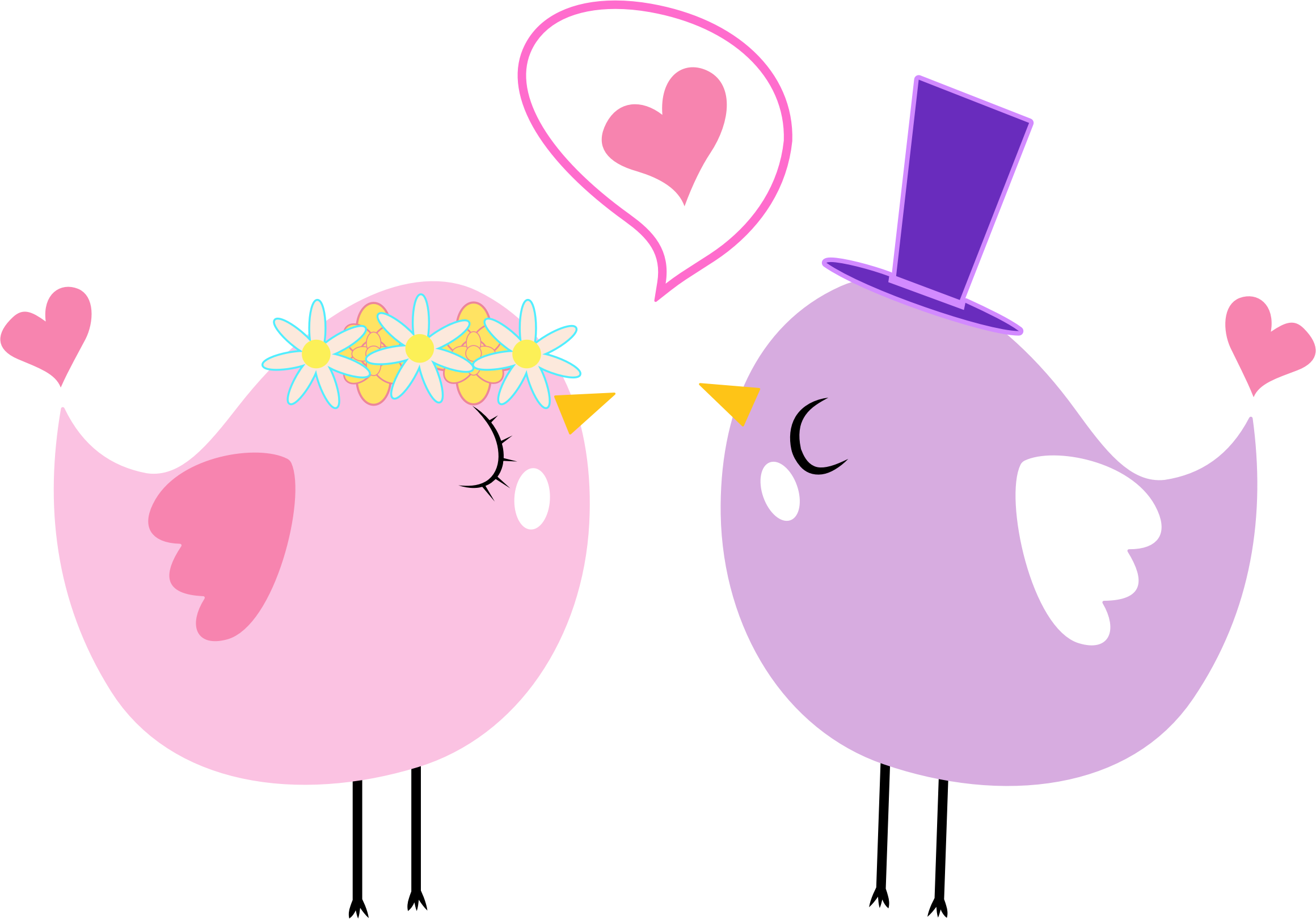 BIG IMAGE (PNG) - Love Birds PNG