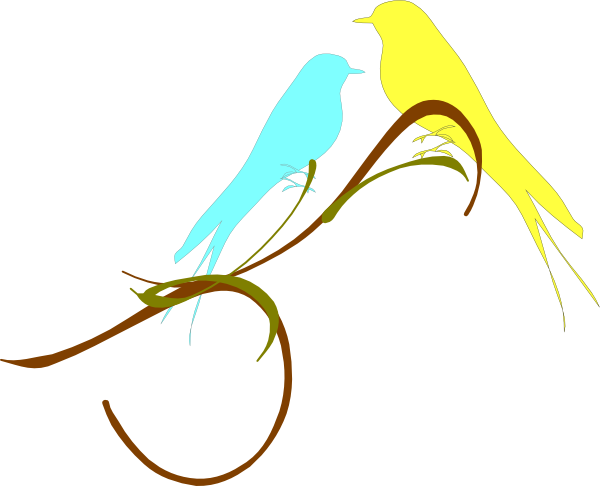 Download this image as: - Love Birds PNG