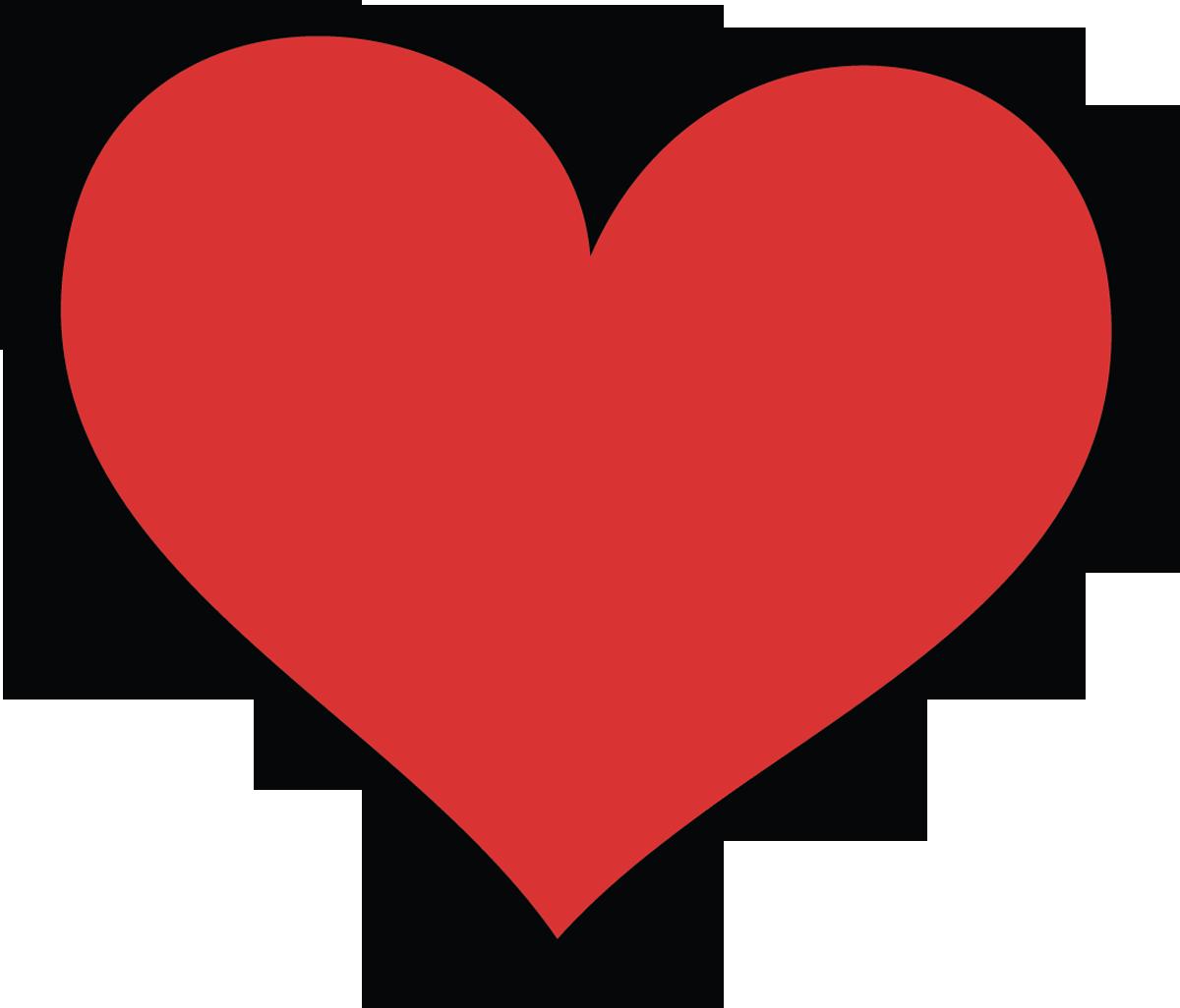 Love Hearts Clip Art 1 - Love Clipart PNG