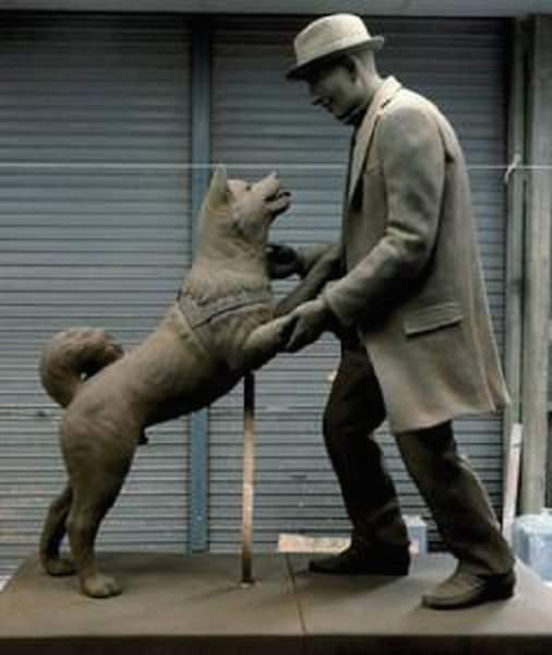 hachiko-statue2 - Loyal Dog PNG