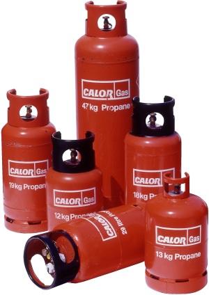 13kg, 19kg and 47kg Propane Gas, with 12kg and 18kg Black Top Forklift  Cylinders - Lpg Cylinder PNG