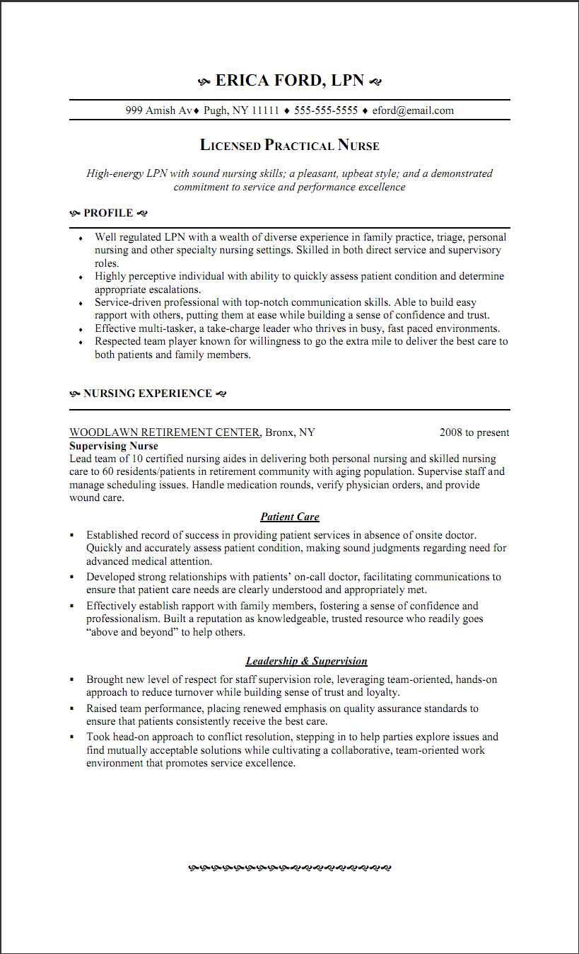 lpn graduate resume examples - Lpn PNG
