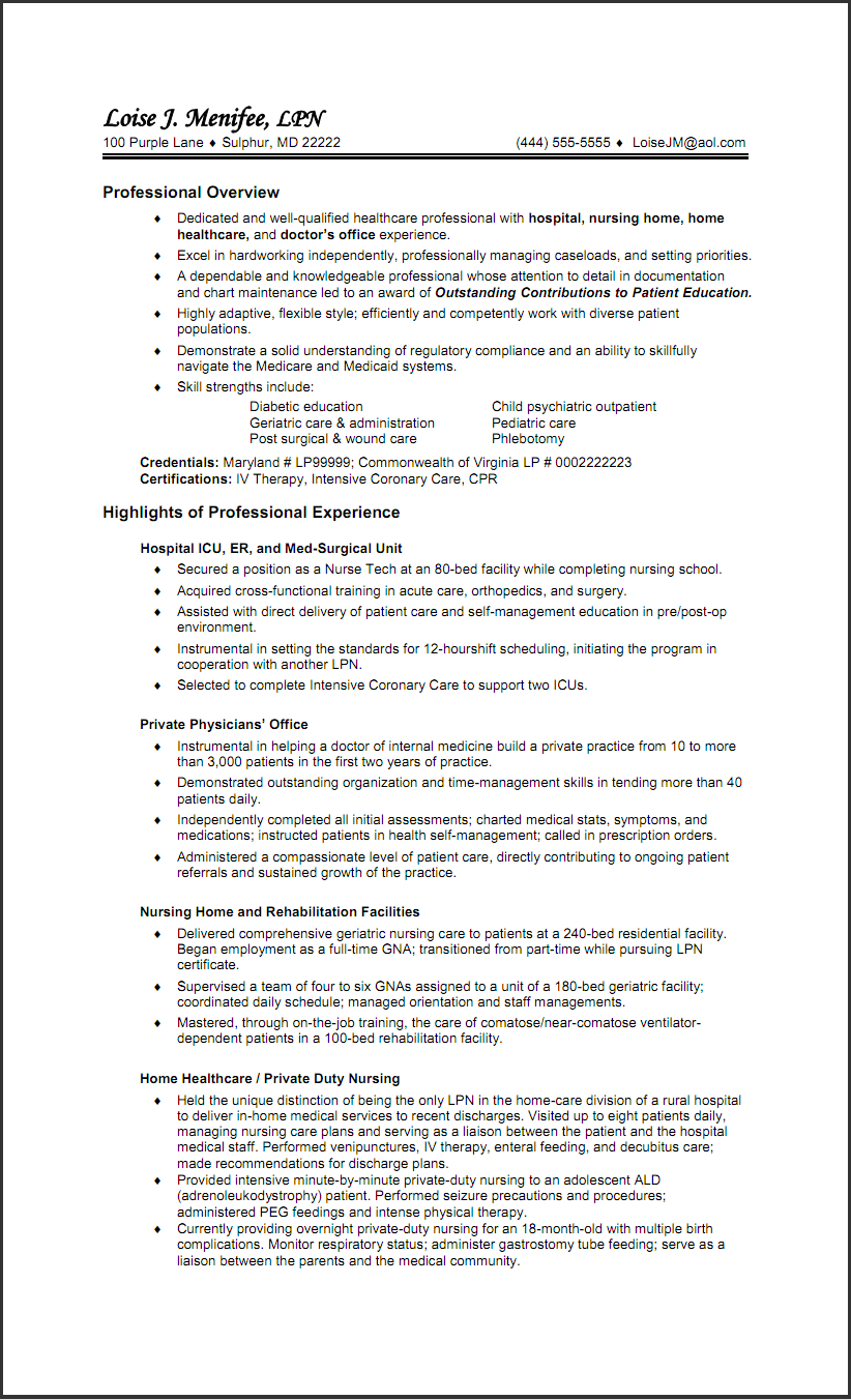resume examples lpn nurse costa sol real estate and - Lpn PNG