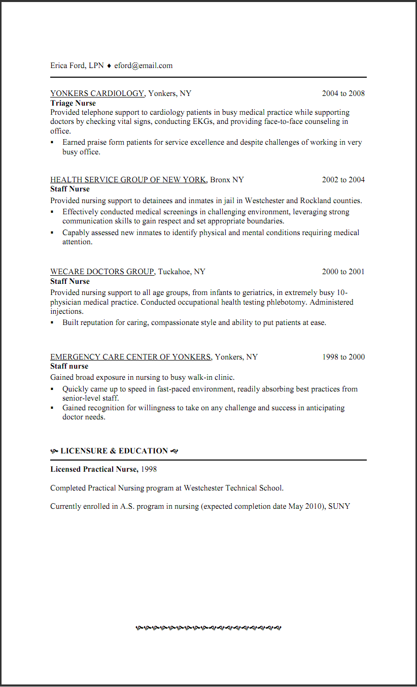 sample lpn resume examples - Lpn PNG