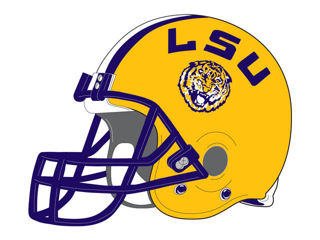 Lsu Logo Pms Colors Clipart - Free Clip Art Images - Lsu Football PNG Free