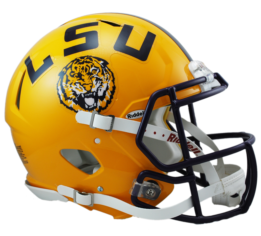 LSU Revolution Speed Authentic Helmet - Lsu Football PNG