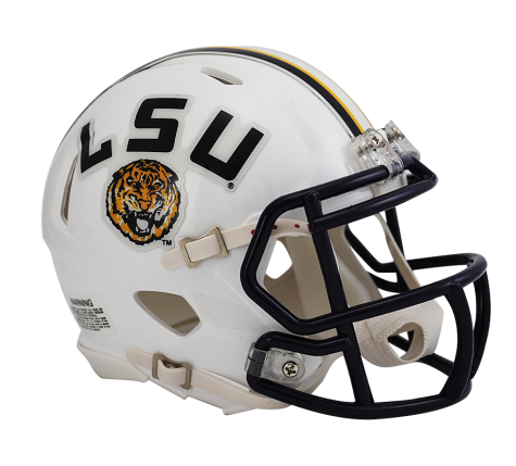 LSU White Speed Mini Helmet - Lsu Football PNG