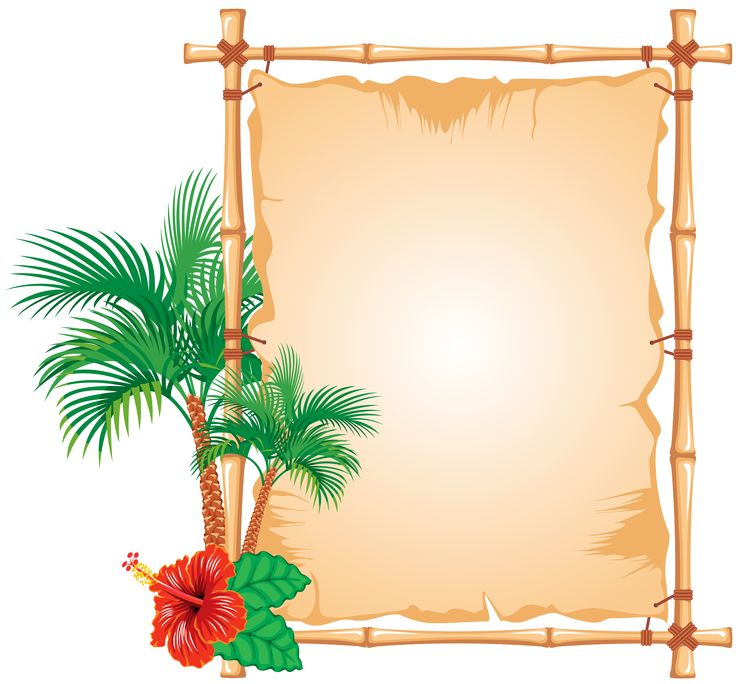 Stencil, Bamboo, Beach - Luau Images PNG