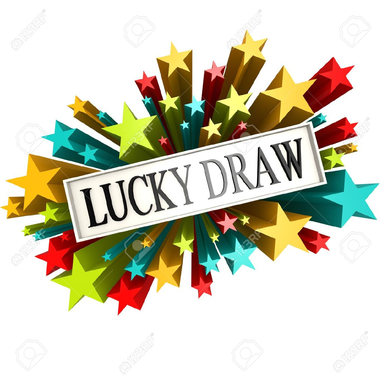 lucky draw: Lucky draw star banner Stock Photo - Lucky Draw PNG