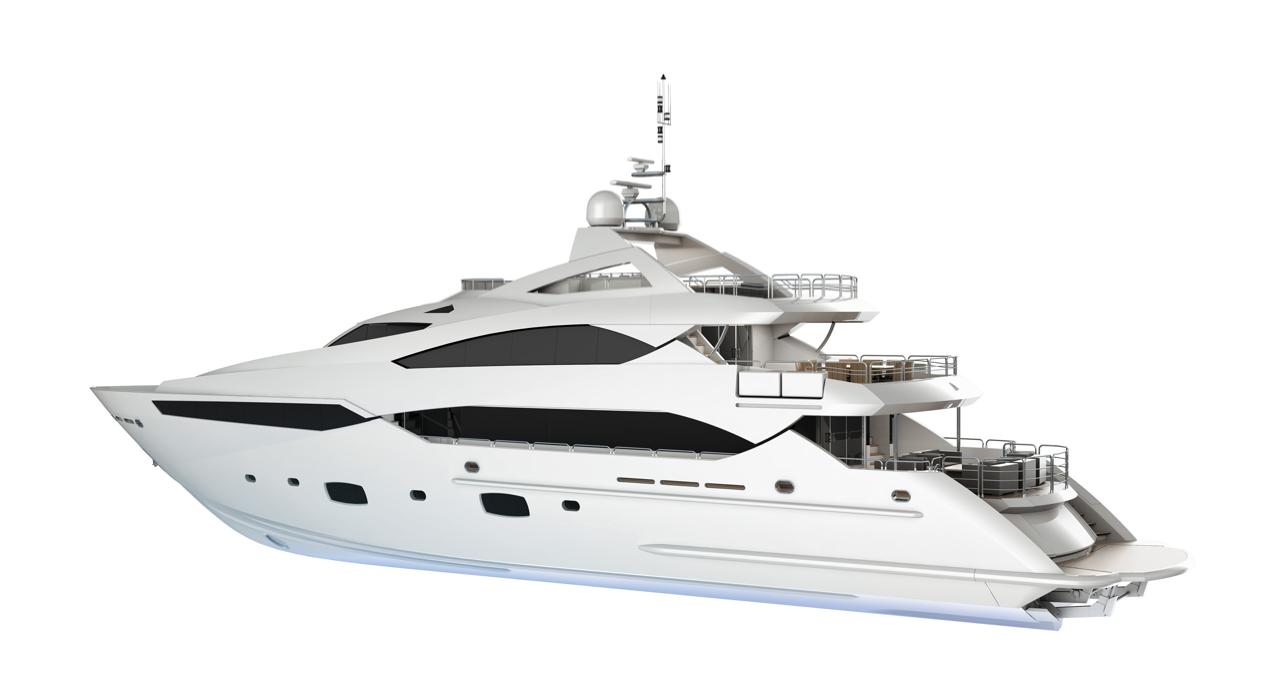 Sunseeker 40 metre yacht - Luxury Yacht PNG