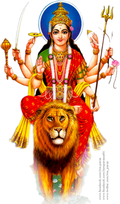 Goddess-Durga-Maa-Transparent - Maa Durga PNG HD