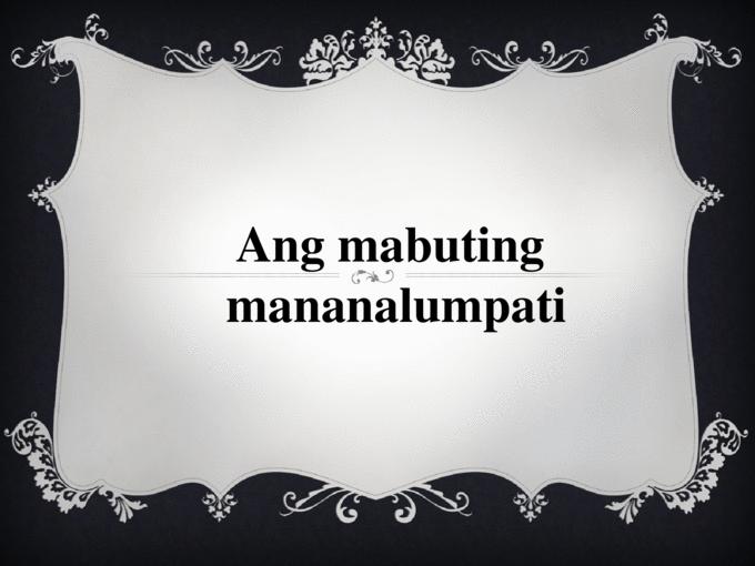 Mabuting Gawain PNG - 45523