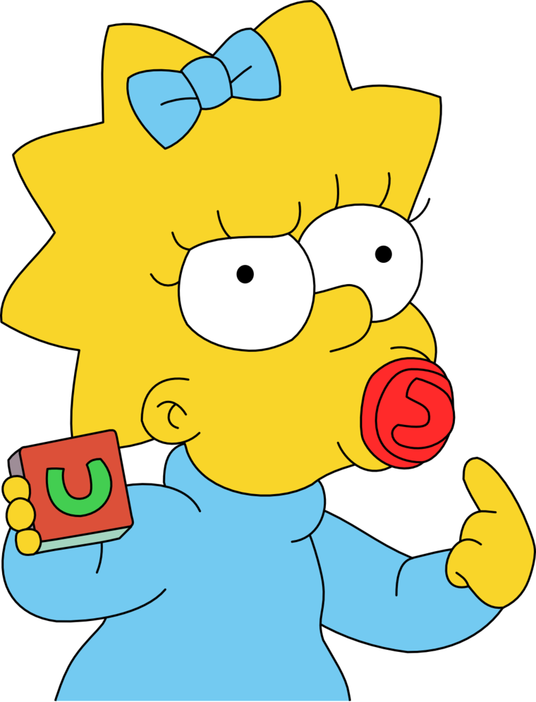 Maggie Simpson HD PNG - 92084