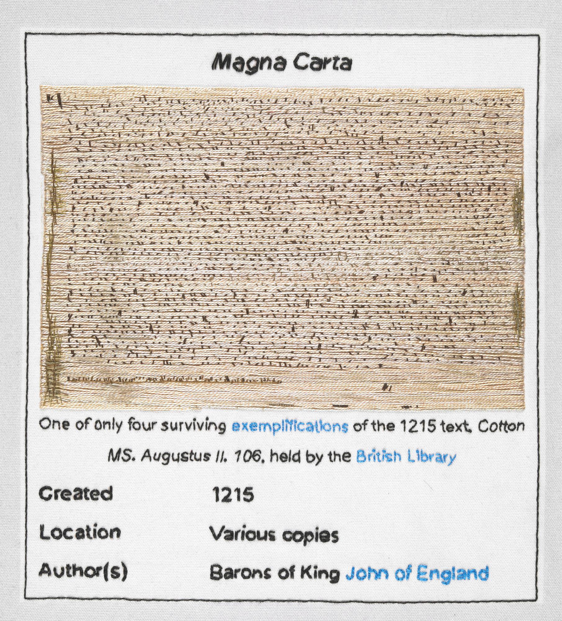 1215-magna-carta-detail-an-embroidery-cornelia-parker- - Magna Carta PNG