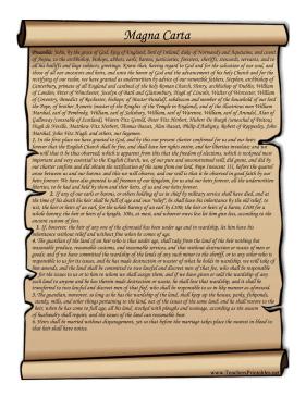 Magna Carta Teachers Printable - Magna Carta PNG