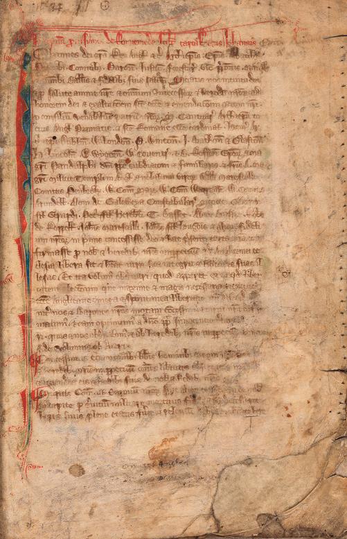 Rare draft of the Magna Carta, Statutes, England, 13th century. The  Huntington - Magna Carta PNG