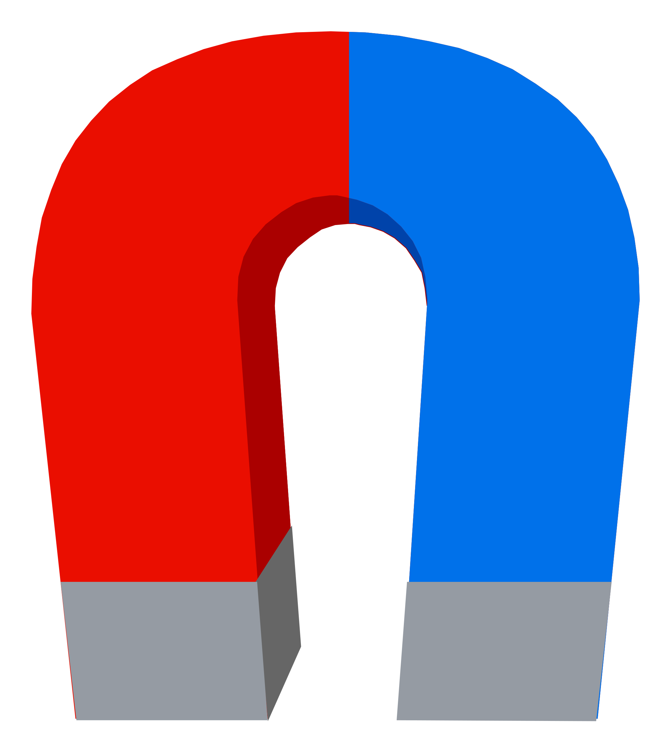 Red and blue magnet vector clipart. Graphic by someyoutuber. - Magnet HD PNG - Magnet PNG HD