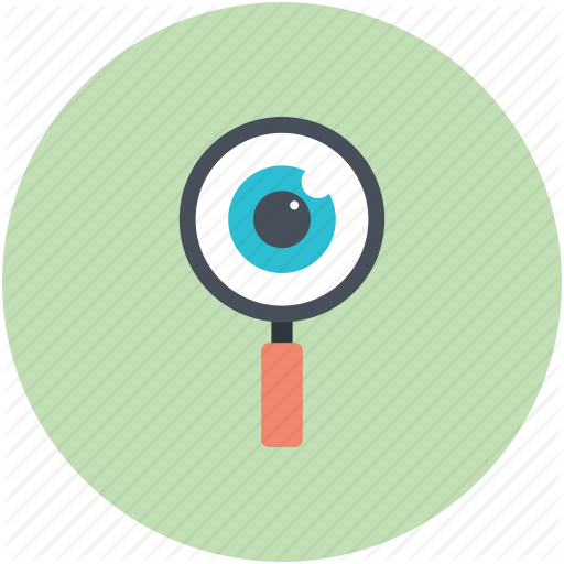 exploration, eye, magnifying glass, search, search concept icon - Magnifying Glass And Eye PNG