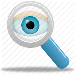 find, magnifying glass, monitor, monitoring, search, view, watch, zoom - Magnifying Glass And Eye PNG