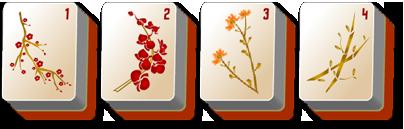 thanksgiving mahjong flowers - Mah Jongg PNG