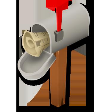 Newspaper Mailbox.png - Mailbox PNG