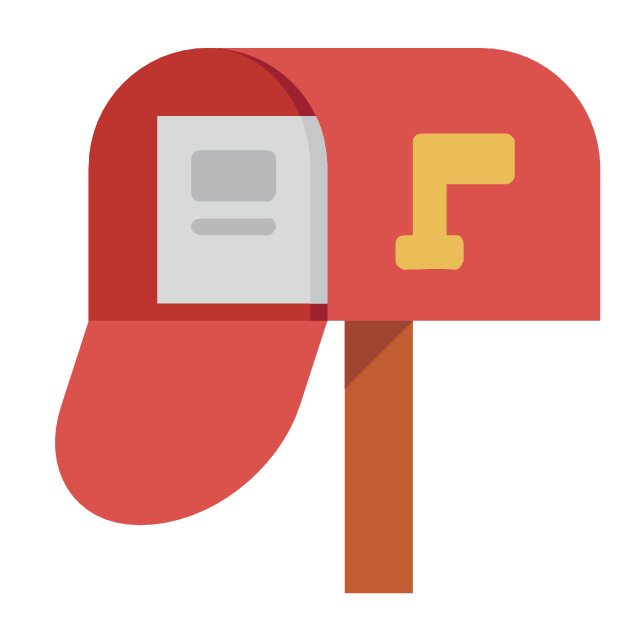 Post And Mail - Vector Stencils Library - Mailbox PNG