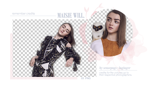 valeryscolors 176 16 Pack Png 304 - Maisie Williams by SensePngs - Maisie Williams PNG