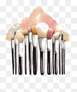 Makeup brush, Cartoon Makeup Brush, Brush, Watercolor PNG Image - Makeup Brush PNG HD