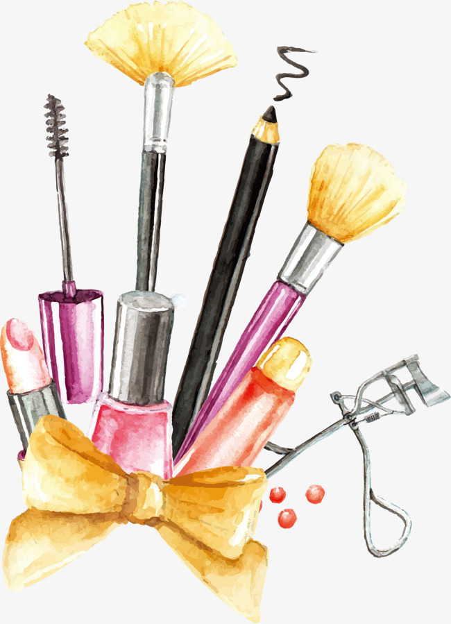 Vector painting makeup tools, Cosmetic, Makeup Tools, Brush PNG and Vector - Makeup Brush PNG HD
