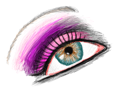 Png Eyelash 2 Eye Makeup Sketch By Demonportal - Makeup PNG