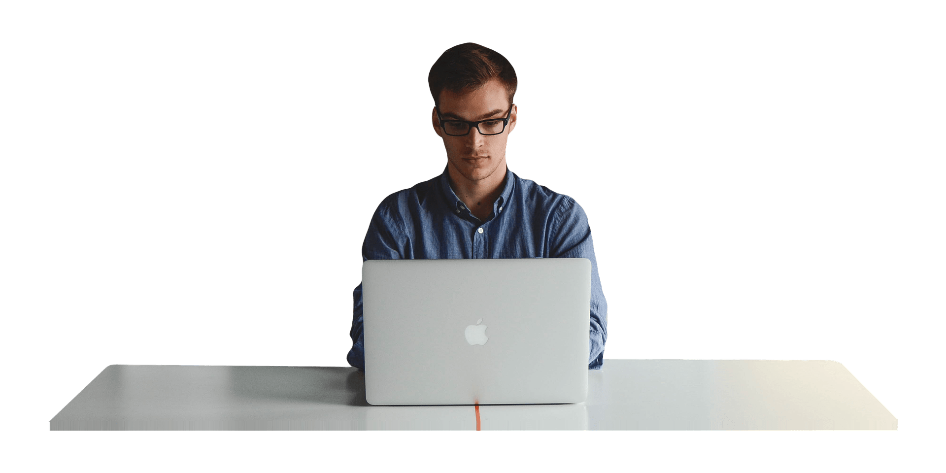 Download - Man At Desk PNG