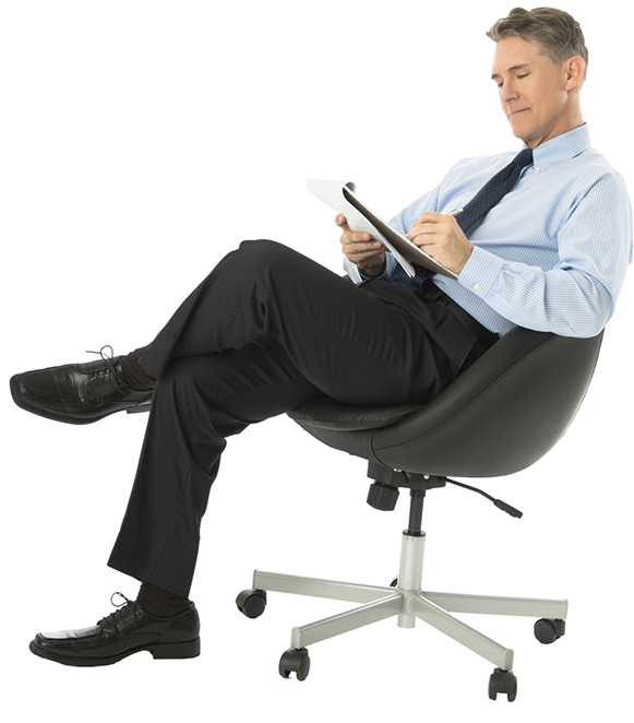 Sitting man PNG - Man At Desk PNG
