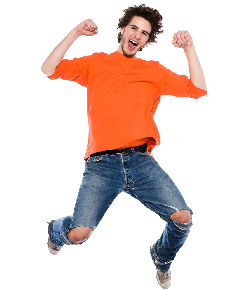 Man Jumping For Joy PNG-PlusPNG.com-850 - Man Jumping For Joy PNG
