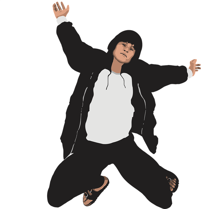 Man, Boy, Jump, Action, Motion, Isolated, Hood, Hoodie - Man Jumping For Joy PNG