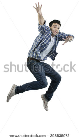 Man jumping in the air - Man Jumping For Joy PNG