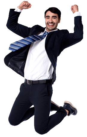 Shoot up your productivity! - Man Jumping For Joy PNG