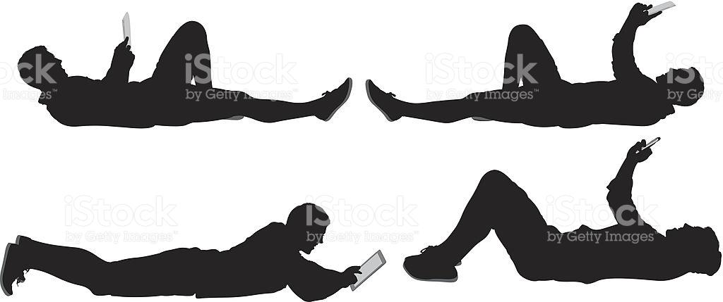 Man lying down royalty-free stock vector art - Man Lying Down PNG